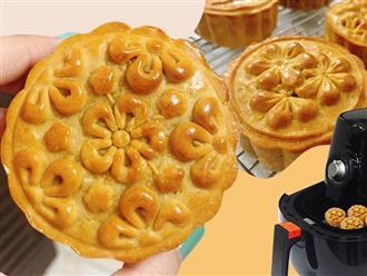 Lâu nay cay cú vì không làm được bánh Trung thu thì giờ bạn có thể tung hoành trổ tài chỉ với chiếc nồi chiên không dầu