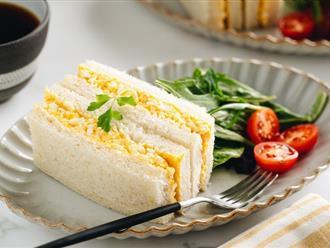 Cuối tuần làm sandwich trứng vừa ngon vừa đẹp mời cả nhà ăn sáng