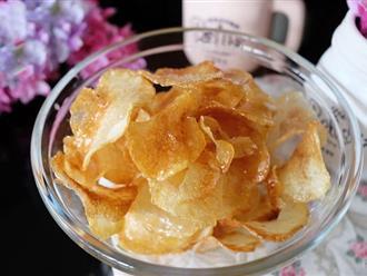 Đây là bí quyết làm snack khoai tây mỏng giòn ngon hơn đi mua