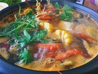 Xuýt xoa lẩu thái thập cẩm chua cay ngon sôi sục dạ dày