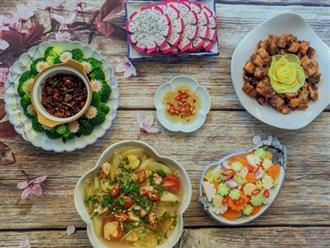 Mẹ đảm Sài Gòn nấu mâm cơm 4 món toàn món quen thuộc mà ngon hết nấc!