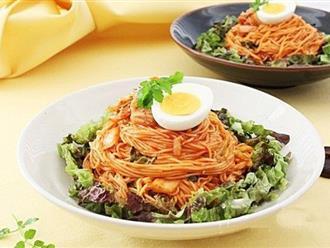 Muốn nhẹ bụng, bữa tối ăn mì trộn kim chi là chuẩn nhất!