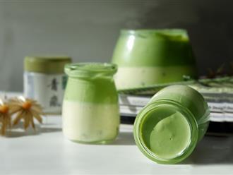 Mousse kem phô mai trà xanh món ngon mát lạnh cho ngày nắng
