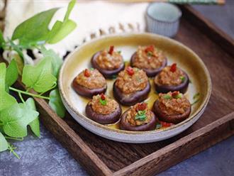 Lạ miệng với món nấm hương nhồi thịt đổi vị cho bữa cơm gia đình
