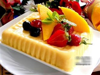 Nắng nóng làm ngay pudding xoài mát lịm tim cho cả nhà thưởng thức
