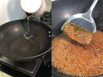 Nấu nước hàng, cho đường trực tiếp vào nồi là sai lầm, thêm bước này nước màu đẹp lại thơm