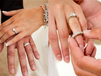 Đại kỵ khi đeo nhẫn cưới các cặp đôi chớ dại phạm phải nếu không muốn hôn nhân đổ vỡ