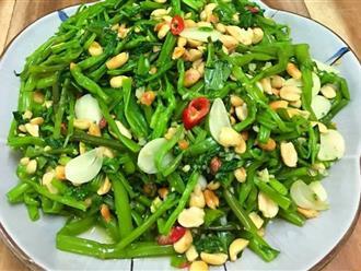 Cách làm nộm rau muống kích thích vị giác cho bữa cơm ngày hè thêm hấp dẫn