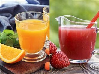 Làm 3 loại nước trái cây giúp tăng sức đề kháng giữa lúc virus corona lây lan