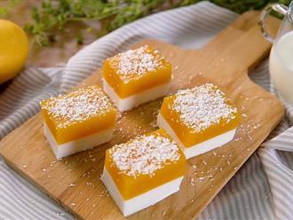 Làm pudding xoài dừa vô cùng nhanh gọn mà vị ngon thanh mát cho những ngày hanh hao cuối hè