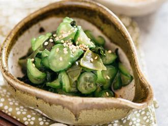 Cách làm salad dưa chuột và rong biển thơm giòn thanh mát
