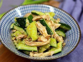 Tôi có thể ăn món salad dưa leo này mỗi ngày vì nó vừa ngon lại giúp giảm cân hoàn hảo!