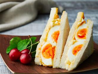 Sandwich trứng mà làm thế này thì bữa sáng ngon đẹp chuẩn không cần chỉnh!