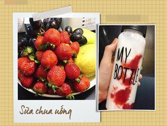 Da tôi đẹp hơn mỗi ngày chỉ nhờ ngày nào cũng uống 1 chai sữa chua uống làm dễ mà cực ngon!