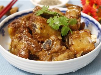 Sườn kho tiêu: Mềm ngon - đậm đà - vàng óng bắt mắt ăn với cơm nóng thì ngon miễn chê