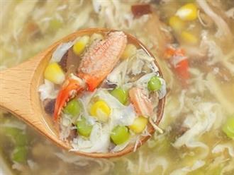 Nấu súp cua biển ngon thế này, bé biếng ăn mấy cũng thích mê