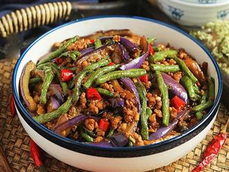 Làm món thịt băm xào cà tím vừa ngon, vừa tăng cường sức khỏe mùa dịch