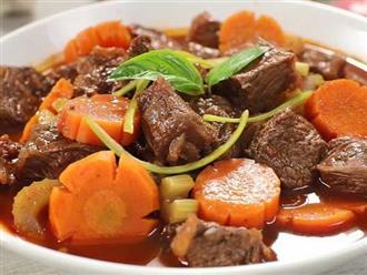 Bí quyết làm món thịt bò hầm khoai tây đổi vị cho cả nhà