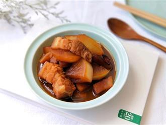 Mùa đông mà có món thịt kho với loại củ này thì ăn với cơm trắng ngon ngất ngây