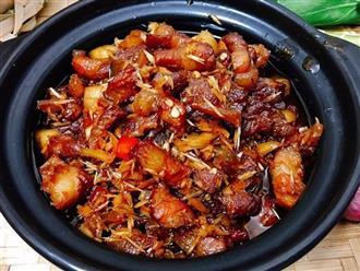 Ngày lạnh ăn ngay thịt kho ruốc sả đảm bảo ngon cơm số 1!