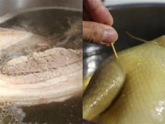 Thời gian luộc thịt heo, bò, gà, vịt, hải sản bao lâu để ngon, giữ nguyên dinh dưỡng