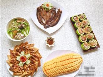 Cá lóc hấp bầu, đậu hũ sốt tôm khiến bữa cơm chiều ngon hơn bao giờ hết
