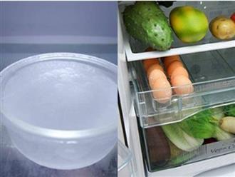 Tiết kiệm cả triệu tiền điện nhờ đặt một cốc nước qua đêm trong tủ lạnh