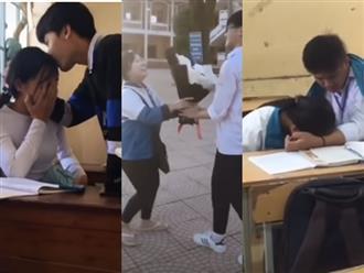 Các cặp đôi tranh thủ 'đóng phim tình cảm' ngay tại lớp học, ai xem cũng 'nóng mặt'