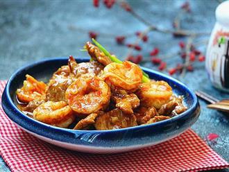 15 phút làm tôm thịt rim nước tương ngon nhức nhối cho bữa tối