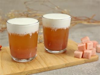 Nhất định bạn đừng bỏ lỡ công thức món trà đào kem cheese chưa bao giờ hạ nhiệt này