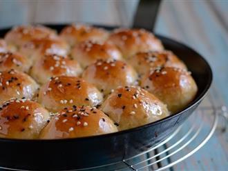 Tự làm bánh mì ngọt mềm ẩm thơm bơ ngon ngất ngây