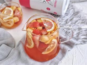 Tự làm trà trái cây cực dễ để các quý cô văn phòng thanh lọc cơ thể