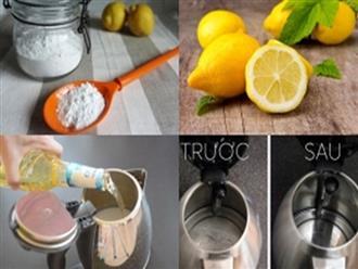 6 mẹo cực hay giúp bạn vệ sinh sạch ấm siêu tốc chỉ trong tích tắc