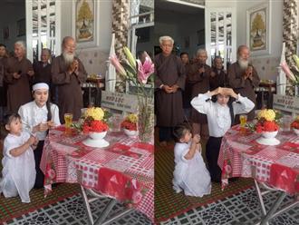 Linh Lan tổ chức lễ cúng 100 ngày cầu siêu cho Vân Quang Long, phát trực tiếp trên Youtube cá nhân