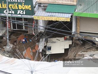Hà Nội: Xuất hiện 'hố tử thần' nuốt trọn giàn khoan và phần trước 3 căn nhà