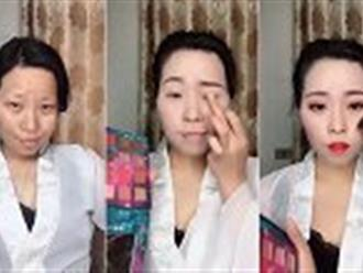 Clip: Màn lột xác ảo diệu nhờ make up khiến dân mạng kinh ngạc