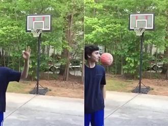 Ăn mừng quá sớm, thanh niên chơi bóng rổ lĩnh trái đắng