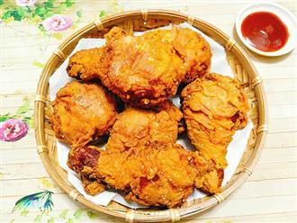 VIDEO: Cách làm gà rán vỏ mỏng, giòn tan không ngán dầu mỡ
