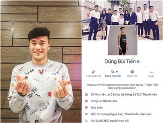 Facebook cầu thủ U23 tăng chóng mặt, Tiến Dũng đạt 2,5 triệu follow