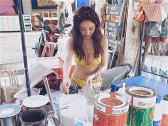 Đứng bán trà sữa, cô gái mặc bikini khoe vòng một khủng khiến dân mạng 'nháo nhào'