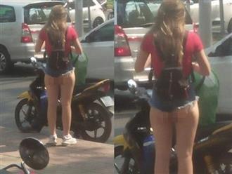 Thiếu nữ mặc quần siêu ngắn không khác gì nội y trên đường phố Sài Gòn khiến người xung quanh 'nóng mắt'