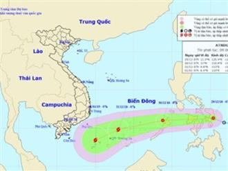 Áp thấp mạnh lên thành bão, hướng về phía Nam Bộ