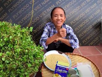 """Bà Tân trổ tài làm cốc rau má đậu xanh siêu to khổng lồ, nhưng dân mạng chỉ chăm chăm chú ý tới câu """"lỡ lời"""" của Hưng Vlog"""