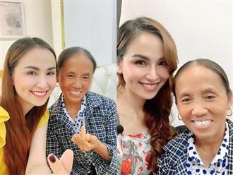 """Bà Tân Vlog bất ngờ """"đọ sắc"""" cùng Hoa hậu Diễm Hương, tuy hình thể bé nhỏ lệch hẳn với người đẹp showbiz nhưng lại được khen tới tấp ở một điểm này"""