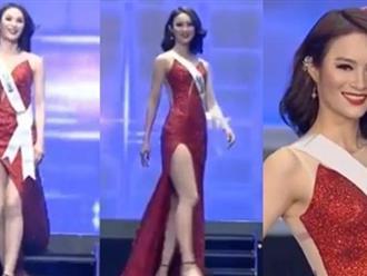 Người đẹp Trung Quốc học Lê Âu Ngân Anh, 'đạo nhái' Hoa hậu Hoàn vũ