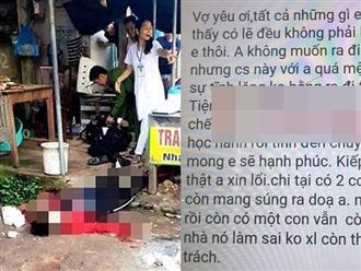 Vụ thiếu phụ bị bắn chết giữa chợ: Hé lộ tin nhắn nghi phạm gửi vợ trước khi gây án