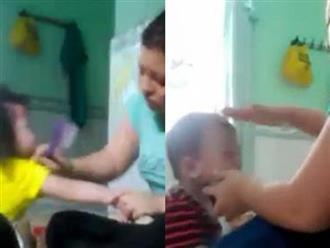 Xuất hiện clip bảo mẫu đánh tát, nhét thức ăn vào miệng trẻ dã man