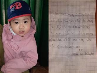 Bé gái bị bỏ rơi lúc rạng sáng mùng 6 Tết: Hé lộ tâm thư của người mẹ