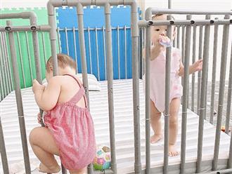 Bị nhốt trong cũi, hai bé sinh đôi rủ nhau 'vượt ngục', ai ngờ thất bại vào phút chót vì lý do cực hài