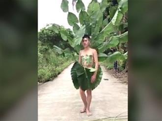 Thời trang 'cây nhà lá vườn' siêu độc đáo và hài hước